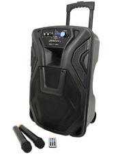 """QTX Busker 12, 12"""" Portable DJ DISCO PA INC WIRELESS MICS, USB SD BLUETOOTH"""