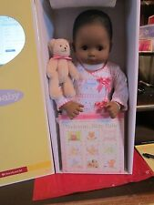 American girl Bitty Baby Doll, BB1 DARK Skn Dr Eyes & TEXTURED Hair * BRAND NEW