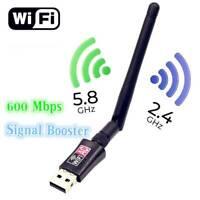 600Mbps Wireless Internet Signal Booster Wifi Range Extender USB Adapter Antenna