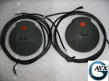 Polycom SoundStationEX Microphones w/ Cables, Compatible w/ SoundStation Premier