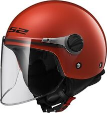 Ls2 casco moto Jet Of575j Wuby Junior Gloss rojo m