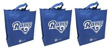 3 Los Angeles Rams Reusable Shopping Grocery Tote Gift Bags - Go Green NEW