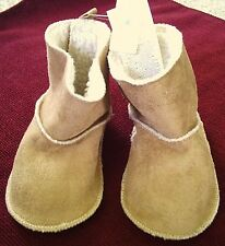 *SALE Infant/Baby GAP Shearling Boots Booties Light Brown Suede Plush 18-24 MO's