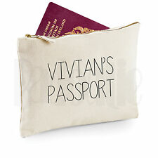 Personalised Passport and Travel Documents Zipped Pouch Bag-           [#VIPEBL]