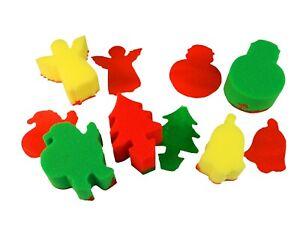 Sponge Painting Set - CHRISTMAS (5) Children Art Craft Decorate Present Kids