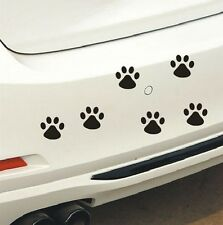 8pcs 6cm Reflective Car Sticker Animal Cat Paw Dog Claw Body Window Decals Black