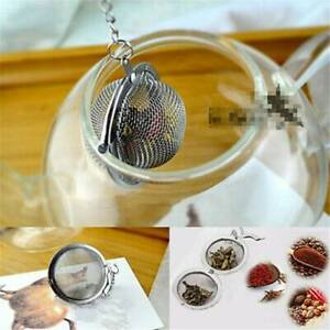 Portable Tea Strainer Herbal Spice Filter Diffuser Stainless Steel Round Ball