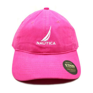 100% Cotton Pink Nautica Hat Baseball Golf Ball Classic Sport Casual Cap