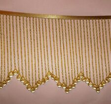 Golden GLASS beaded fringe with design in the middle  - lampshades  #114