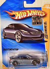 HOT WHEELS 2010 NEW MODELS '10 INFINITI G37 #32/44 GREY FACTORY SEALED W+