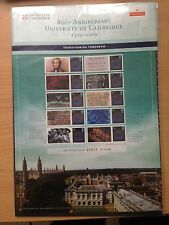 GB 2009 Post Office Commemorative Sheet Cambridge University 800th Anniv CS6