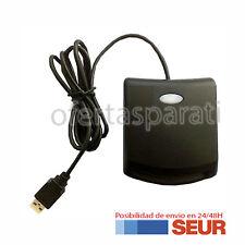 LECTOR DE DNI ELECTRONICO TARJETAS INTELIGENTES USB 2.0 NEGRO