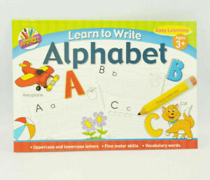 A4 Kids Learn To Write Alphabet Handwriting Practice Letters Book Pad Pre School