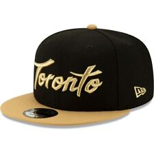 Toronto Raptors New Era Black/Gold City Edition On Court 9FIFTY Snapback Hat Cap