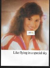 """HAWAIIAN AIRLINES 1987 INTRODUCING PREMIER FIRST CLASS SERVICE 2 PG 16"""" X 11"""" AD"""