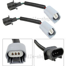 2X H13 9008 Low Beam Fog Light Extension Wiring Harness Ceramic Socket Connector