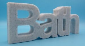"""""""Bath"""" Word Home / Office / Shop Ornament - Arial Font"""