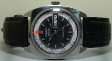 VINTAGE CAMY Super AUTOMATIC Geneve Rallyking DAY DATE Mens WATCH S128 Old Used