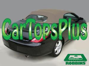 "2004-2009 Toyota Solara Convertible Top & Heated Glass ""Robbins"" Tan Cloth"