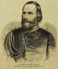 1859:Guerre d'Italie.Il Generale Giuseppe Garibaldi -.Xilo.Etna. Risorgimento