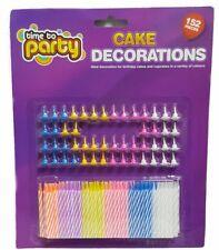 Birthday, Celebration Cake Decorations - Cupcake Candles. 152 Pieces