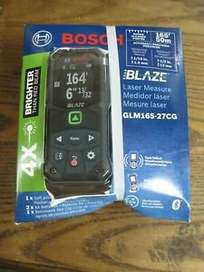 Bosch BLAZE 165' Connected Green-Beam Laser Measure GLM165-27CG Brand New