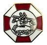 Masonic Knights Templar Two Riders Gold Plated Enamel Lapel Pin Badge