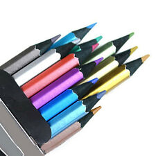 Marco 12 Metallic Colored Pencil Non-toxic For Drawing Sketching Stationery