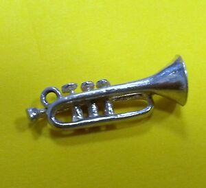 Sterling Silver Charm Vintage Trumpet