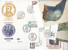 Deutsche Bundespost Lot 8 FDC divers Willy Brant ,Thomas Kempis ,Goslar etc 1971