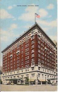 HOTEL MIAMI, DAYTON, OHIO - E. C. KROPP #20954 LINEN UNUSED COLOR POSTCARD