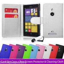 NUEVO Funda Cartera de piel sintética para Nokia Lumia 925/920 +