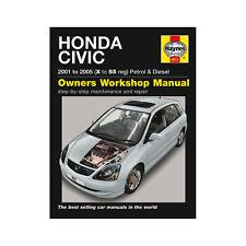 [4611] Honda Civic 1.4 1.6 Petrol 1.7 Diesel 01-05 (X to 55 Reg) Haynes Manual
