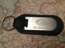 Subaru Key Ring Blind Etched On Leather Impreza Legacy Xv Forester Outback Brz