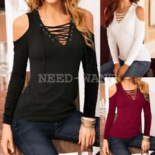 Unbranded Lace Up Polyester Tops & Shirts for Women