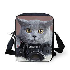 Shorthair Cat Cross Body Shoulder Bag Kids Messenger Satchel Small Sling Purse