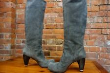CoSTUME NATIONAL Ladies Grey Suede Leather Boots. STUNNING BOOTS. rrp £600.00 uk