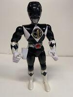 "1994 Bandai Mighty Morphin Power Rangers 8"" Black Ranger Kicking Action"