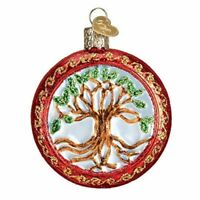 Old World Christmas TREE OF LIFE Glass Blown Ornament