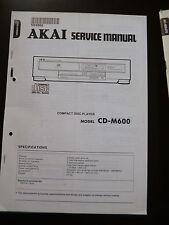 Original Service Manual Akai CD-m 600