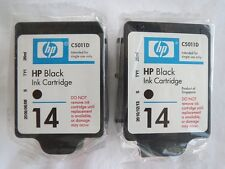 HP 14 C5011D Black Printer Ink Cartridges EXP 2009 26ml each NEW 2 OEM