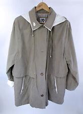 CS Signature Anorak Coat Size XL Khaki Brown Soft Fully Lined Hooded Jacket