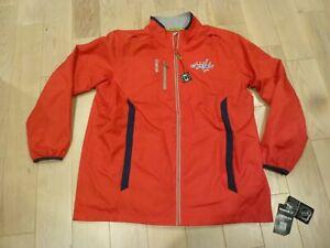 NWT Reebok Washington Capitals Center Ice KineticFit Red Rinkside Jacket (XL)