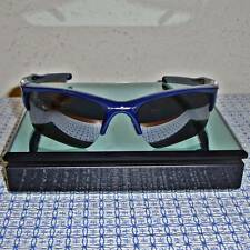 New Oakley OO9154-24 Men's Half Jacket 2.0 Xl Navy Blue Semi-Rimless Sunglasses