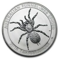 2015 ~1~OZ .999 SILVER ~ FUNNEL~WEB SPIDER COIN ~LIMITED~ $9.99 AUCTION ~NO RES!