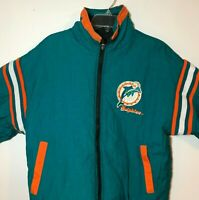 NFL Pro Player Miami Dolphins Reversible Jacket w/ Hood  Size XGD/XL