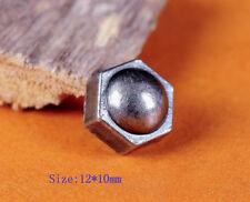 30pcs Nickel Screw Bolt Rivet Studs Spots 12*10MM Leather Crafts Decor Conchos
