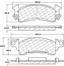 Ceramic Disc Brake Pad Set-Disc Front Centric 103.00520