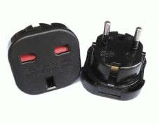 2x New 3 PIN UK Travel Power Adapter Mains Plug - 2 PIN EU Europe Converter #403