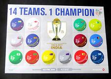 Cricket-WM 2015, Mi.Nr. 3211 - 24 im Zusammendruck-Bogen (P0778)